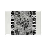 Broken brain Rectangle Magnet (100 pack)