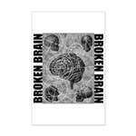 Broken brain Mini Poster Print