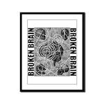 Broken brain Framed Panel Print