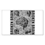 Broken brain Sticker (Rectangle 50 pk)