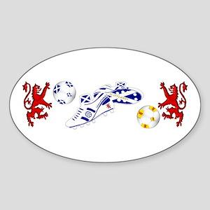 Scottish white football boots Sticker (Oval)