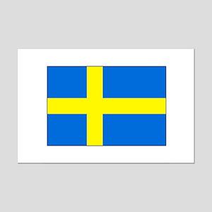 Cheer on Sweden's Soccer Team Mini Poster Print