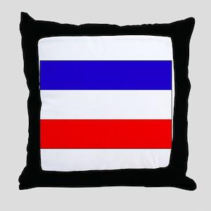 Serbia-Montenegro flag Throw Pillow