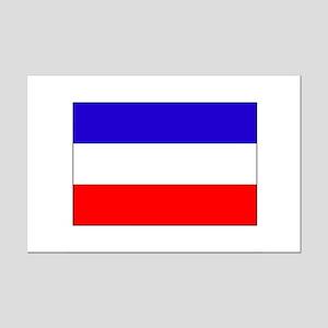 Serbia-Montenegro flag Mini Poster Print