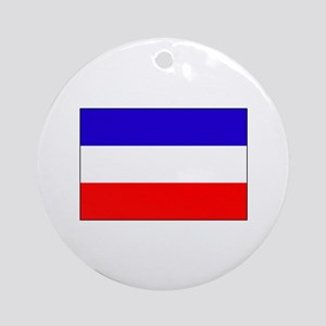 Serbia-Montenegro flag Ornament (Round)