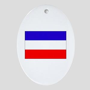 Serbia-Montenegro flag Oval Ornament
