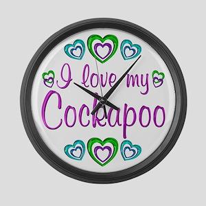 Love My Cockapoo Large Wall Clock
