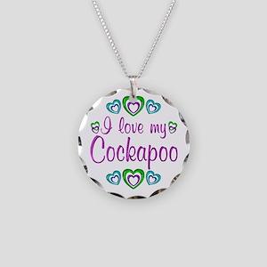Love My Cockapoo Necklace Circle Charm