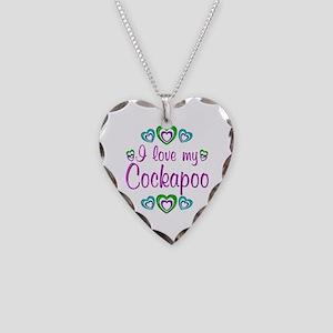 Love My Cockapoo Necklace Heart Charm