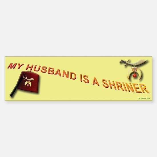 Shriners Wive's Bumper Bumper Bumper Sticker