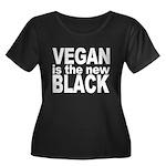 Vegan is the New Black Women's Plus Size Scoop Nec