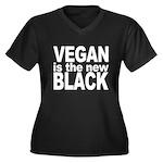 Vegan is the New Black Women's Plus Size V-Neck Da