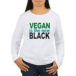 Vegan is the New Black Women's Long Sleeve T-Shirt