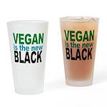 Vegan is the New Black Drinking Glass