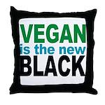Vegan is the New Black Throw Pillow