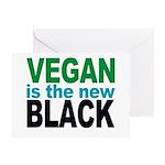 Vegan is the New Black Greeting Card