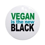 Vegan is the New Black Ornament (Round)