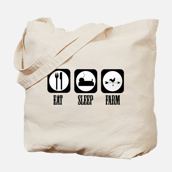 Eat Sleep Farm! Tote Bag