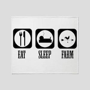 Eat Sleep Farm! Throw Blanket