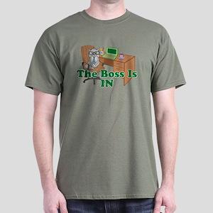 Cat Boss is In Dark T-Shirt