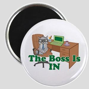 Cat Boss is In Magnet