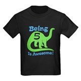 Birthday dinosaur 5 Kids T-shirts (Dark)