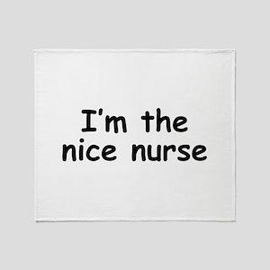 nice nurse Throw Blanket