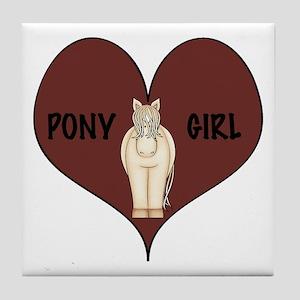 Pony Girl Tile Coaster