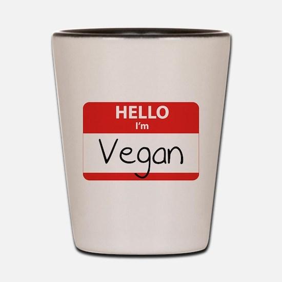 Hello I'm Vegan Shot Glass