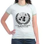 U.N. FREAKING AMERICAN Jr. Ringer T-Shirt