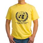U.N. FREAKING AMERICAN Yellow T-Shirt