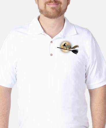Witch Squirrel Golf Shirt