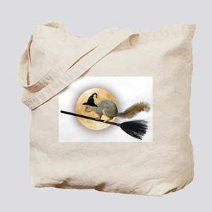 Witch Squirrel Tote Bag