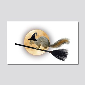 Witch Squirrel Car Magnet 20 x 12