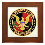 U.S. Border Patrol Framed Tile