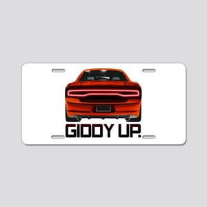 Charger - Giddy Up Aluminum License Plate