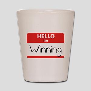 Hello I'm Winning Shot Glass