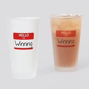Hello I'm Winning Drinking Glass