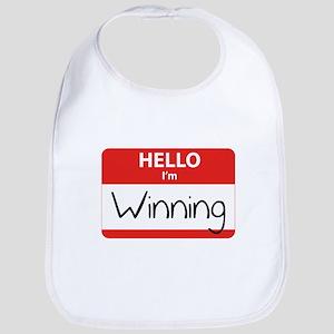 Hello I'm Winning Bib