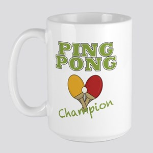 Ping Pong Champ Large Mug