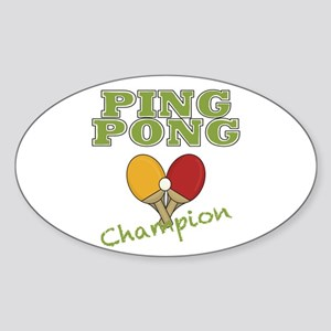 Ping Pong Champ Sticker (Oval)
