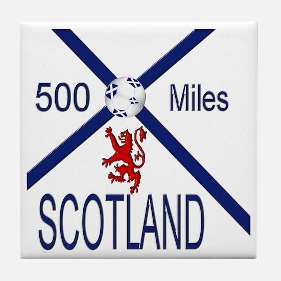 Scotland Football 500 miles Tile Coaster