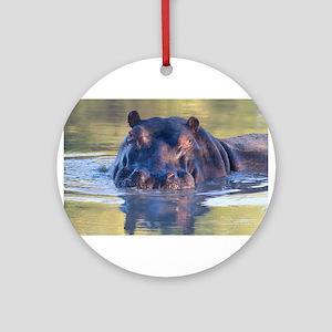 Hippo Ornament (Round)