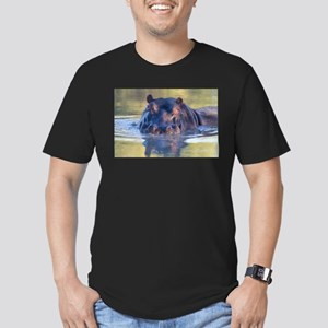Hippo Men's Fitted T-Shirt (dark)