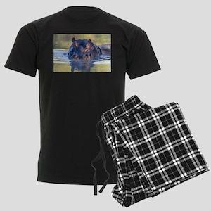 Hippo Men's Dark Pajamas