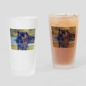 Hippo Drinking Glass