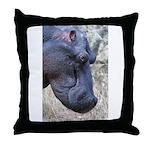 Hippo Profile Throw Pillow