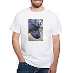 Hippo Profile White T-Shirt