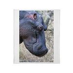Hippo Profile Throw Blanket