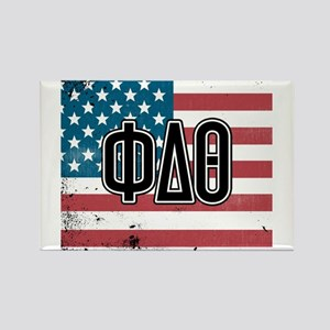 Phi Delta Theta Flag Rectangle Magnet